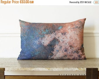 "SALE Coral pink pillow / Coral Reef / Linen oblong art pillowcase 14""x 22"" ...  /  FRAGMENTS"
