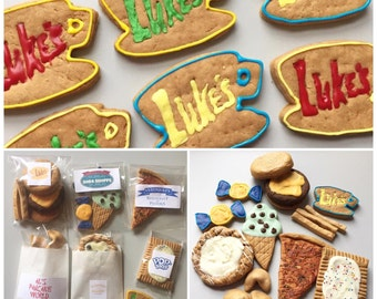Gilmore Girls Themed Dog Treat Box - Luke's Diner - Stars Hollow - diner - fast food - take out - All Natural Dog Treat - Paul Anka's Treats