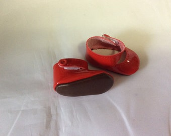 Red mary janes, doll shoes, fit Wellie Wisher