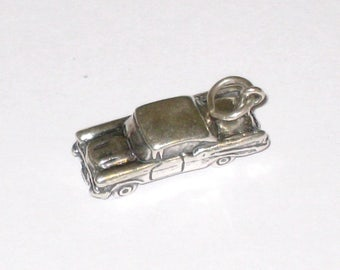 Vintage SHUBE'S 3-D Car, Automobile Sterling Silver Charm / 4.0 Grams / Free US Shipping