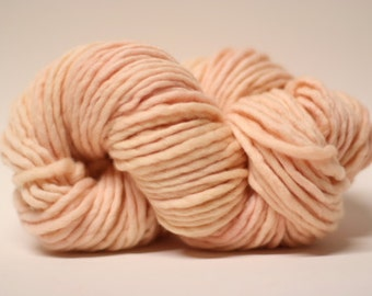 Single Ply Yarn Merino Slub Hand Dyed 44sp16031 Warm Peach
