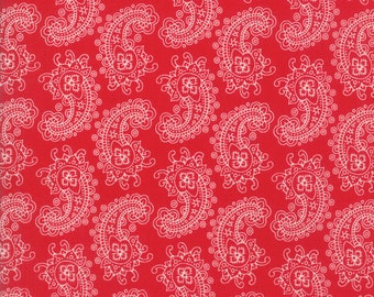 Spellbound Paisley in Scarlet Red,  Urban Chiks, 100% Cotton, Moda Fabrics, 31113 11