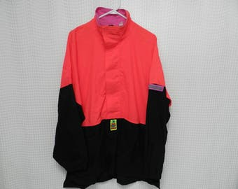 vintage Ocean Pacific Jacket 80s 90s Surf Xtreme Air NEON Beach spring skiing coat hip hop street wear XL OP gotcha windbreaker half zip