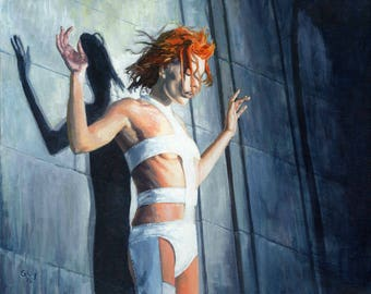 Leeloo - Original Fan Art Print - Fifth Element