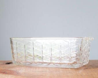 Vintage Clear Glass Ovenware Dish