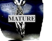 Mature Small Vagina Pendant  Solid Sterling Silver Free Domestic Shipping