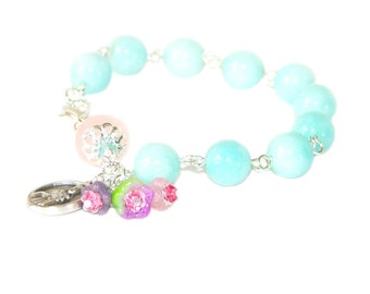 Saint Therese Rosary Bracelet, Catholic Saint Religious Jewelry