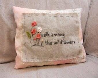 Wildflower Walk pillow kit...designed by Mickey Zimmer