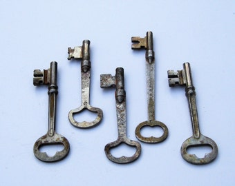 Vintage Skeleton Keys: 5 Old Skeleton Keys for Your Next Project