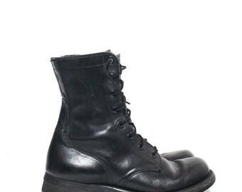 SALE 7 N | 1960's Vietnam Era Combat Boots Military Boots Biltrite Soles