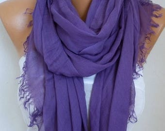 ON SALE --- Pale Purple Cotton Soft Scarf,Teacher Gift,Fall Scarf,Pareo,Shawl,Oversized Scarf, Cowl Scarf Gift Ideas for Her Women Fashion A