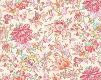 "Liberty Tana Lawn fabric CHRISTELLE - 17"" wide x 13"" (43cm x 33cm) - new Classic 2017, pink, pastel"