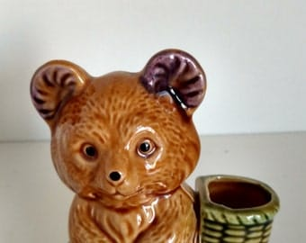Vintage Norleans Japan Bear toothpick holder