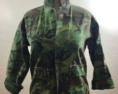 Reserved for Tami, Camouflage, Vintage Military, Medium Camo Jacket, Vintage Clothing, Vintage Jacket , Military Jacket, Camo Jacket