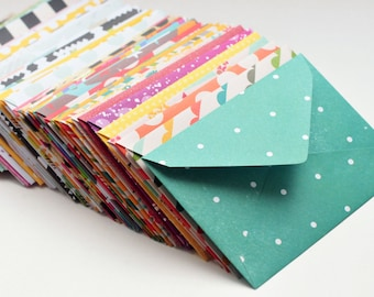 Assorted Mini Cards // Set of 52 // 1st Anniversary // Love Notes // Mini Notecards