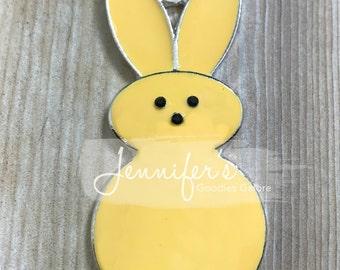 50*26mm, Enamel Pendant, Peeps Pendant, Easter Peeps, Rhinestone Pendant, Easter Pendant, Bunny Necklace, Easter Necklace, Chunky Necklace