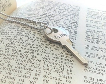 Faith key necklace, faith key, key faith necklace, faith jewelry
