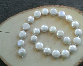Luxurious Fresh Water Coin Pearl beads AAAA Very high quality luster