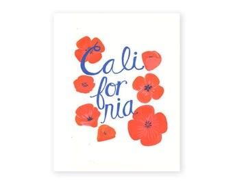 California Poppies fine art print, 8x10