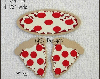 Die Cut Pizza Night Premade Paper Piecing Embellishment for Card Making Scrapbook or Paper Crafts