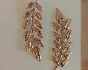 Coppery Rose-Gold Delicate Fronds (1 pc)