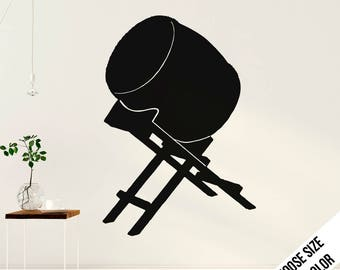 Taiko Drum Wall Decal  - Japanese Drums - Traditional  Music - Vinyl Sticker