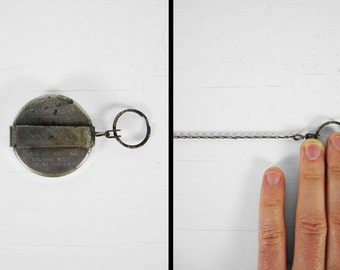 Vintage 60s Extendable Keychain Key-Bak Chain Length Key Ring Fob