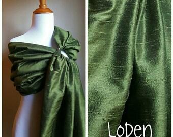 Silk Ring Sling - Double Layer, Single Color Tone, Handmade Dupioni Silk - Custom Order