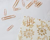 Rose Gold Paper Clips - Small / Large - 25 pc