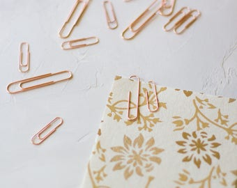 Rose Gold Metal Paper Clips - Small / Large - 25 pc