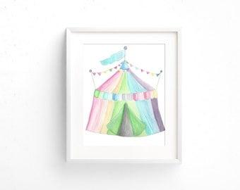 Circus Tent Print