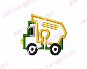G-Tubenie Cover-Dump Truck - Applique - Machine Embroidery Design - 2 sizes