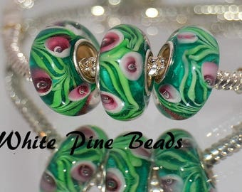 Murano Lampwork Handmade Glass Bead Fits European Style Bracelets European Charm Bracelets