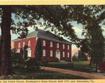 Alexandria, Virginia, Old Pohick Church, George Washington, Home Church - Vintage Postcard - Postcard - Unused (V)