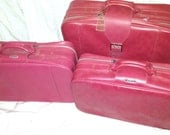 Hot Pink Luggage 1970's Vintage By Samsonite