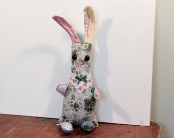 Tall bunny ART doll