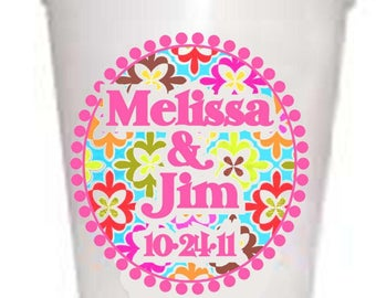 Personalized Paisley Custom Styrofoam Cups 50 qty