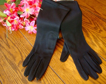 Black Evening Gloves Ladies Vintage Long Gloves Formal Fashion Accessory