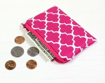 Coin Pouch - Gift Card Holder - Business Card Holder - Fabric Mini-Wallet - READY to SHIP