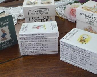 Vintage Beatrix Potter Books 22 Published 1986, Beatrix Potter Hardback Book Set, Beatrix Potter Peter Rabbit & Friends