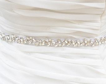 Wedding Belt, Bridal Belt, Sash Belt, Crystal Rhinestones sash belt, Party Sash,vintage sash belt