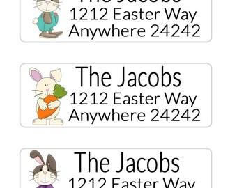 Easter Return Address Labels, Envelope Seals Easter, Envelope Labels, Printable Address Labels, Easter Basket Tags, Easter Gift Tags (647)