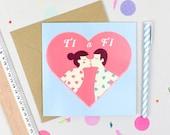 Ti a Fi, You & Me Valentines/Love card
