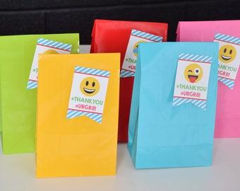 Emoji Party Favor Bag Set, Emoji Party, Party Tags, Emoji Birthday Party, Emoji Party Supplies