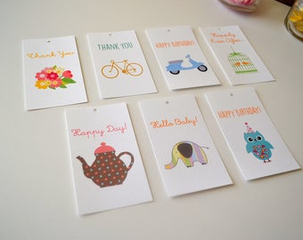 Assorted Gift Tags - Gift Packaging - Set of 10