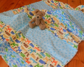 Puppy Dogs Baby Flannel Blanket