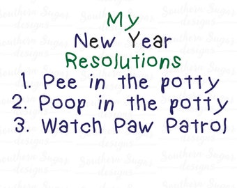 New Years SVG - Kid's Clothes SVG - New Years Paw Patrol SVG - New Years Cut File