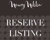 Reserve listing for Sarah