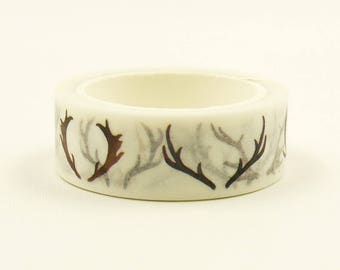 Deer Horns - Japanese Washi Masking Tape - 7.6 Yard