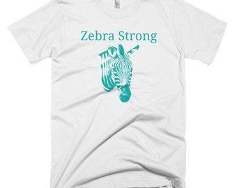 Aqua Zebra Strong Shirt - Choose Color - Ehlers Danlos Syndrome EDS